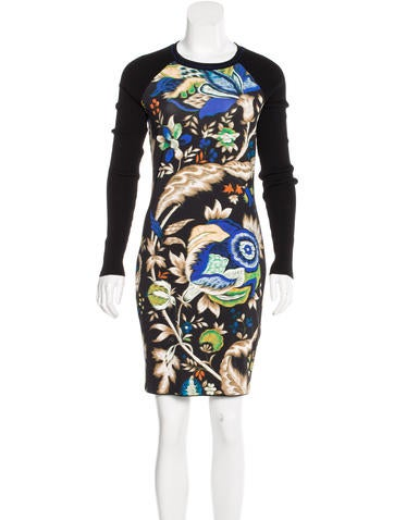 Roberto Cavalli Printed Sheath Dress None