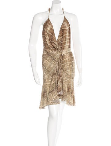Roberto Cavalli Silk Halter Dress None