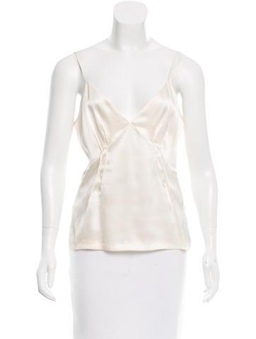 Roberto Cavalli Sleeveless Silk Top None