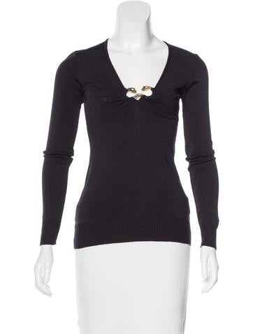 Roberto Cavalli Embellished Long Sleeve Top None