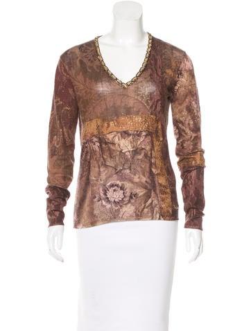 Roberto Cavalli Virgin Wool & Silk Top None