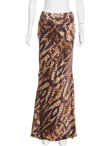 Cheetah Print Silk Skirt w/ Tags