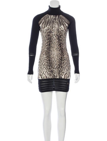 Roberto Cavalli Leopard Print Mini Dress None