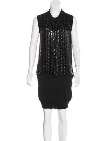Roberto Cavalli Embellished Knit Dress None