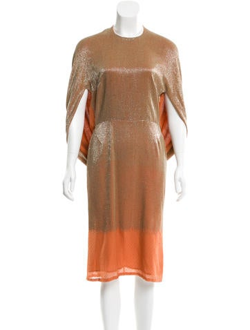 Roberto Cavalli Silk Beaded Dress None