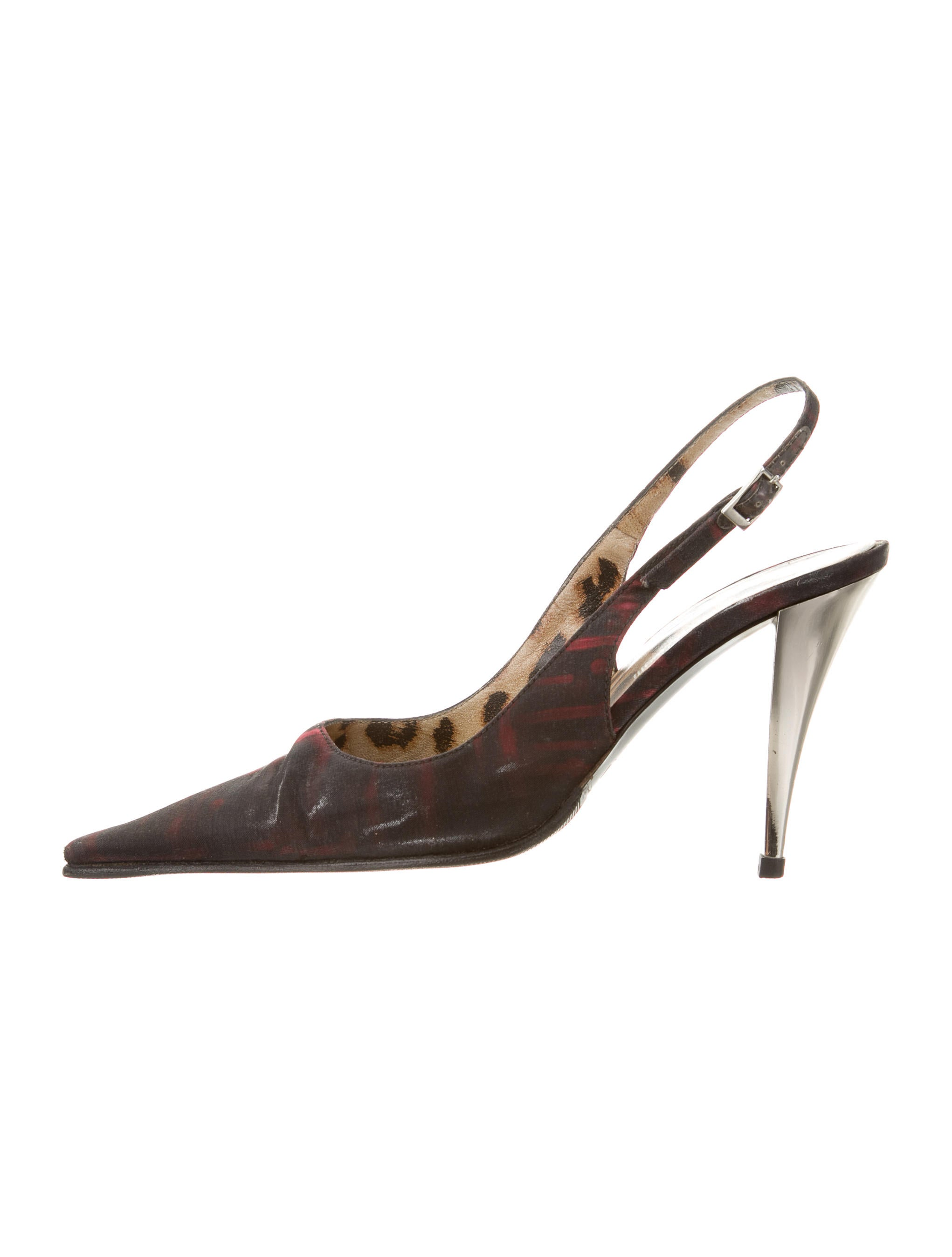Roberto Cavalli Woven Slingback Pumps quality outlet store X6ueqi