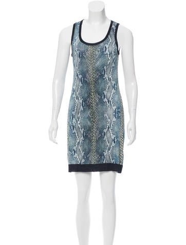 Roberto Cavalli Snakeskin Print Mini Dress None