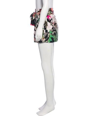 Floral Printed Silk Shorts