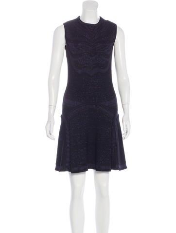 Roberto Cavalli Rib Knit Printed Dress None