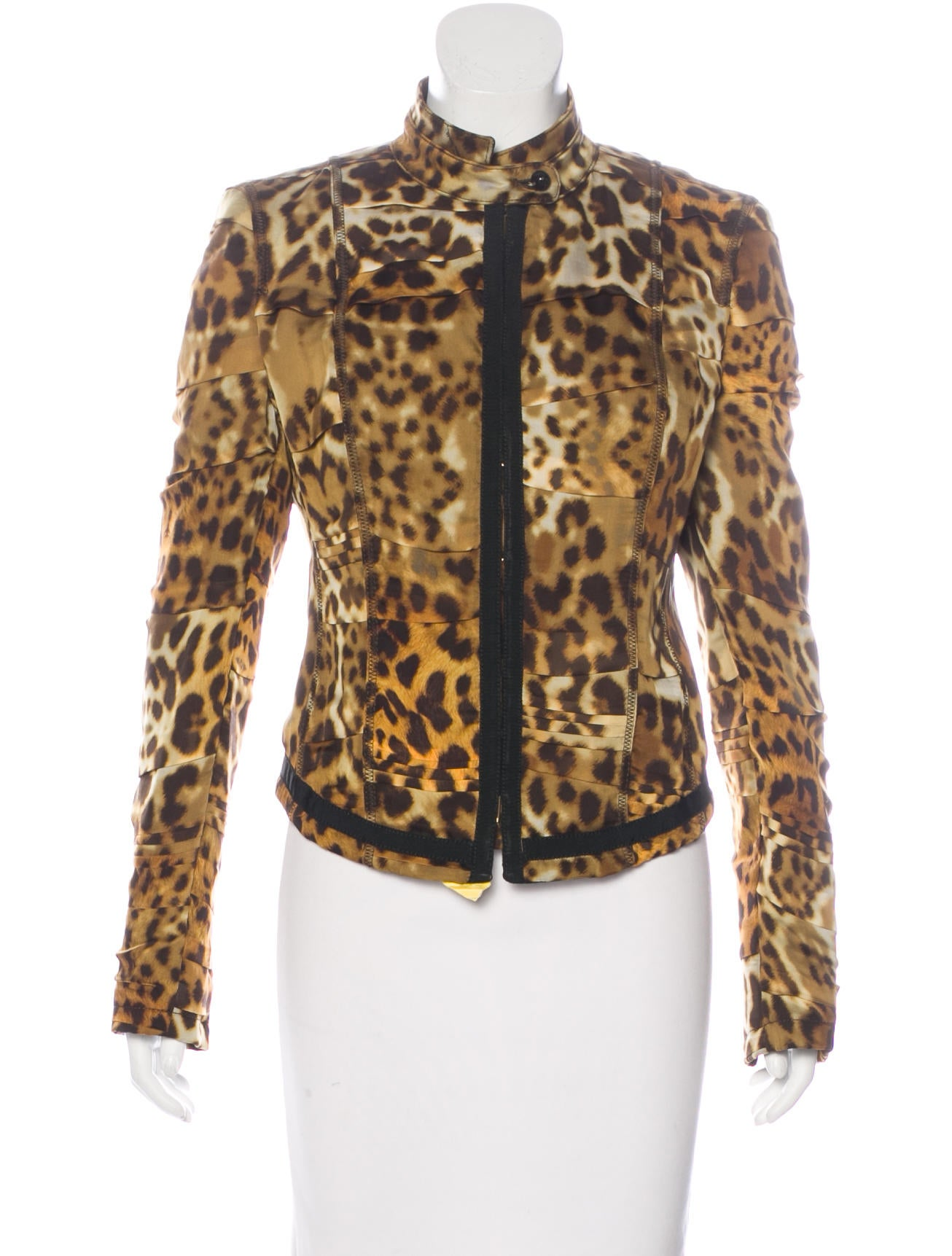 roberto cavalli cheetah print structured jacket clothing