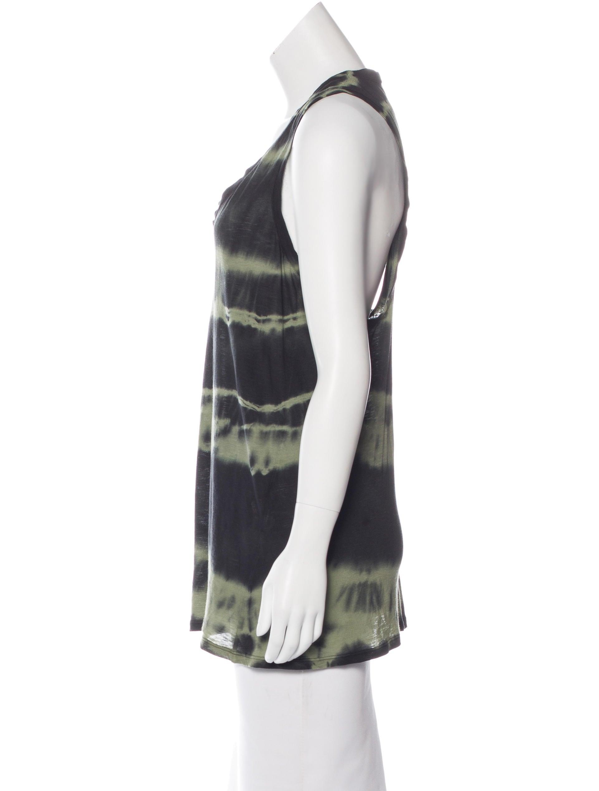 Roberto cavalli sleeveless tie dye top clothing for Tie dye sleeveless shirts