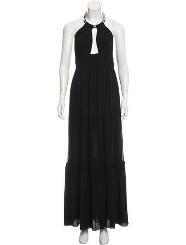 Roberto Cavalli Embellished Silk Gown None