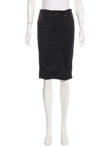 Roberto Cavalli Paneled Knee-Length Skirt None