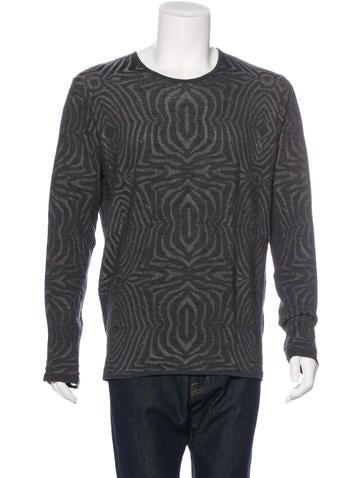 Roberto Cavalli Wool Print Sweater w/ Tags None