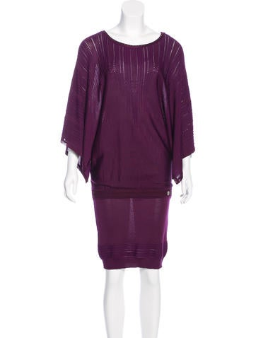 Roberto Cavalli Jacquard Short Sleeve Dress w/ Tags None