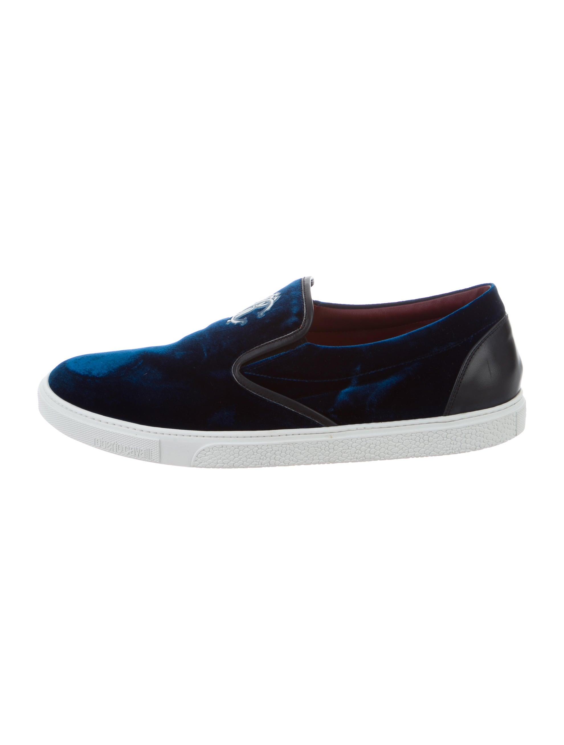 roberto cavalli velvet slip on sneakers shoes rob41473