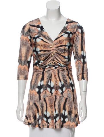 Roberto Cavalli Animal Printed Peplum Top w/ Tags None