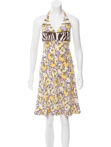 Roberto Cavalli Silk Floral Dress None