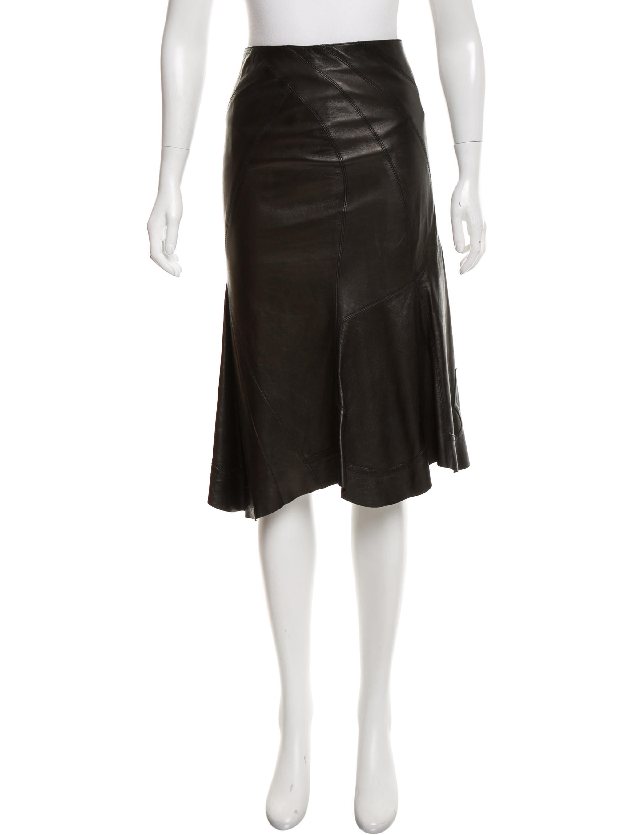 roberto cavalli leather asymmetrical skirt clothing
