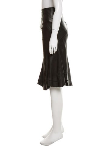 roberto cavalli leather asymmetrical skirt clothing