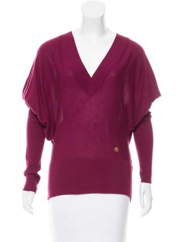 Roberto Cavalli Cashmere & Silk V-Neck Sweater None