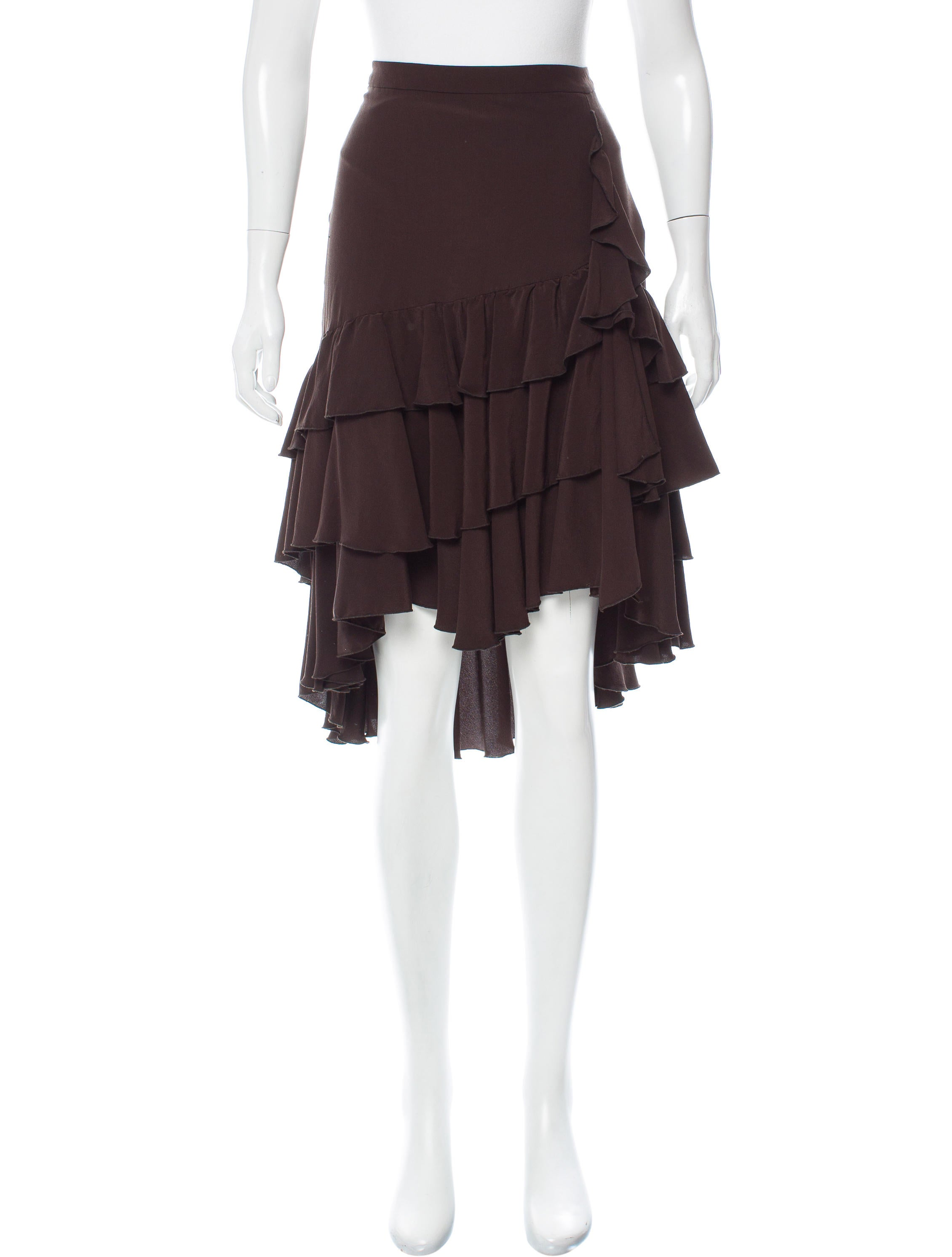 The time Silk ruffle skirt also suggested