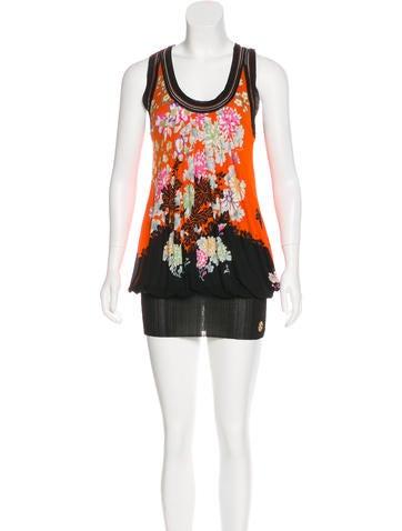 Roberto Cavalli Printed Mini Dress None