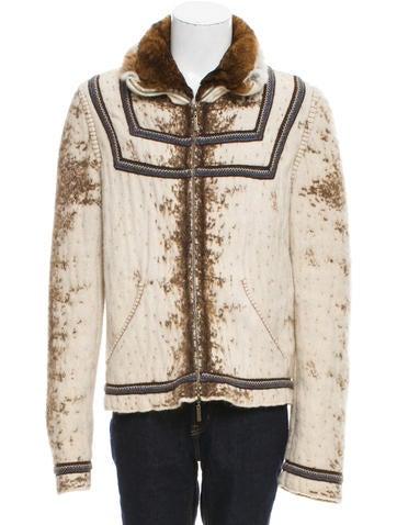 Roberto Cavalli Patterned Zip Sweater None