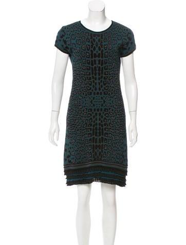 Roberto Cavalli Jacquard Knee-Length Dress None