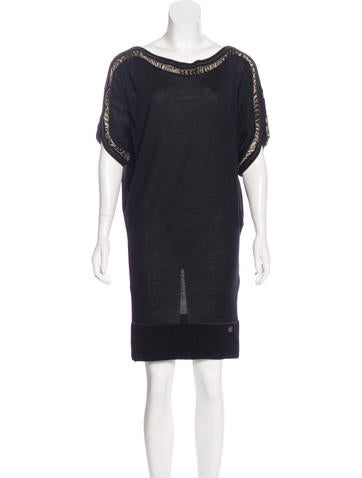 Roberto Cavalli Knit Wool-Blend Dress None