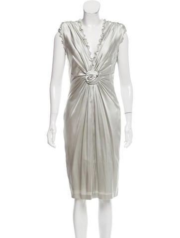 Roberto Cavalli Ruffle-Trimmed Silk Dress None
