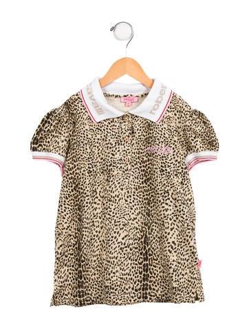 Roberto Cavalli Girls' Printed Short Sleeve Top None