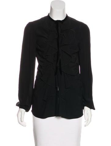 Roberto Cavalli Silk Button-Up Top None