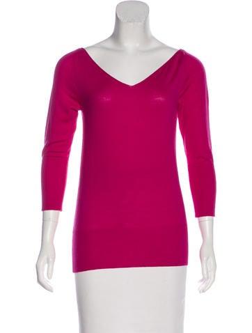 Roberto Cavalli Wool Scoop Neck Sweater None