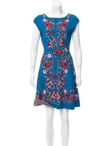 Roberto Cavalli Jacquard Fit & Flare Dress None