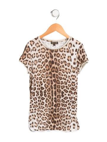 Roberto Cavalli Girls' Leopard Print Top None