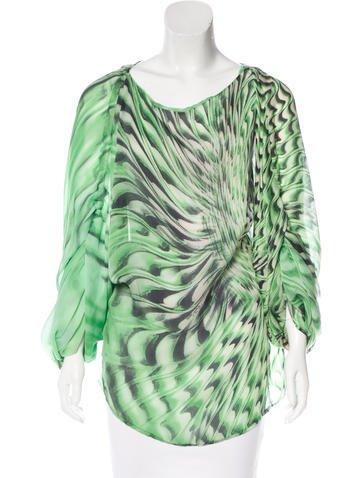 Roberto Cavalli Silk Printed Top None