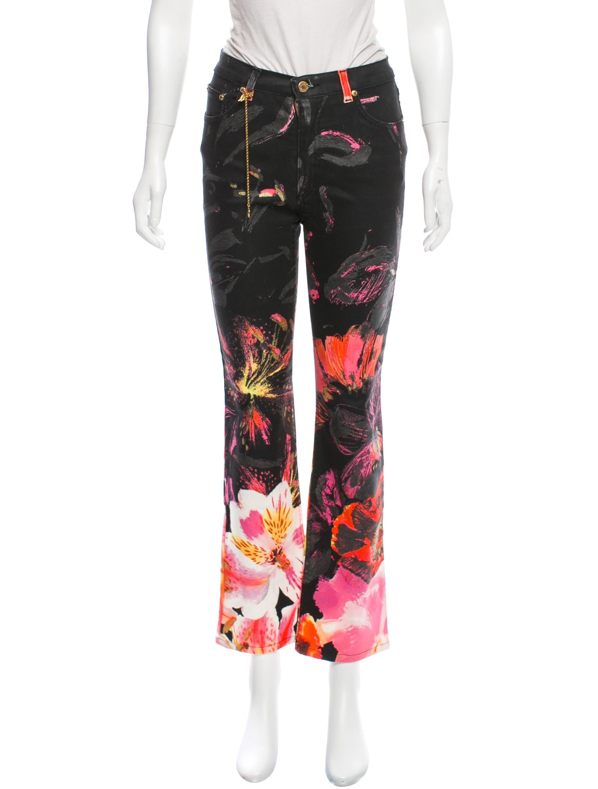 1f7c317f98f7d Roberto Cavalli Floral Print Mid-Rise Jeans - Clothing - ROB46975 ...