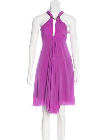 Roberto Cavalli Silk Knee-Length Dress None