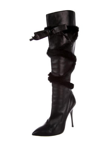 Roberto Cavalli Leather Riding Boots b2vbby