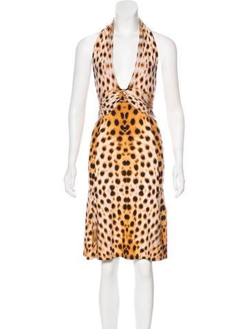 Roberto Cavalli Sleeveless Halter Dress None