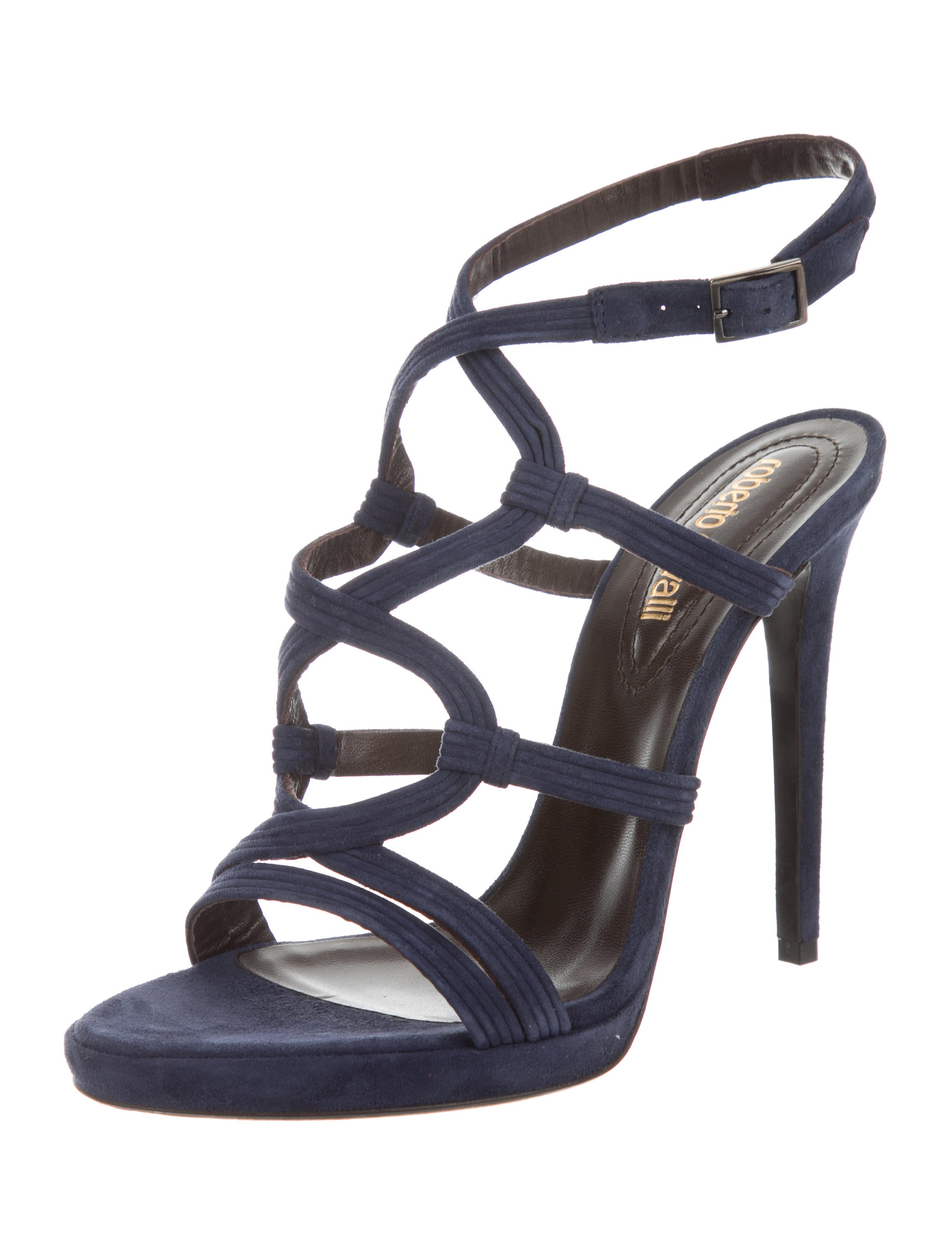 Just Cavalli Suede Cage Sandals outlet pictures low shipping fee cheap online free shipping nicekicks free shipping many kinds of j0Feiw