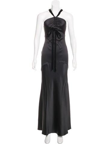 Roberto Cavalli Silk Sleeveless Gown None