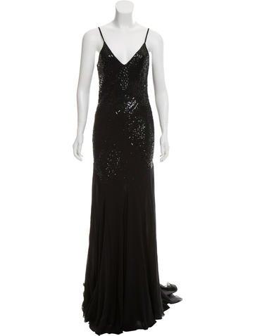 Roberto Cavalli Silk Sequin Dress None