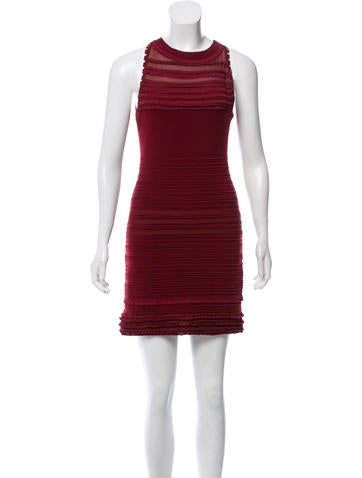 Roberto Cavalli Ruffle-Trimmed Wool Dress None