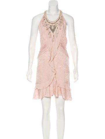 Roberto Cavalli Embellished Silk Dress None