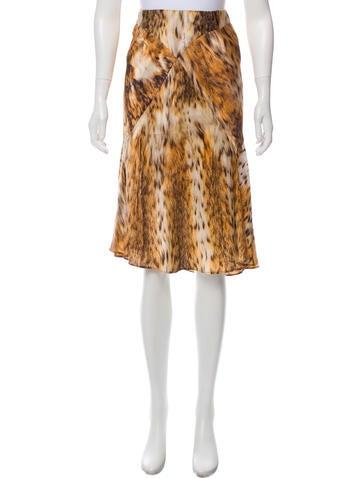 Roberto Cavalli Cheetah Print Silk Skirt None