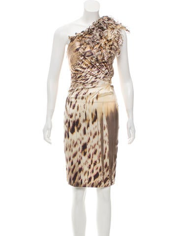 Roberto Cavalli Printed Silk Dress None