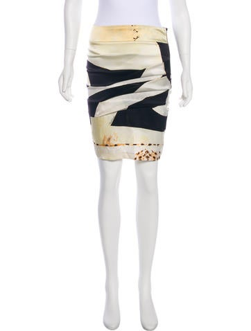 Roberto Cavalli Silk Knee-Length Skirt None