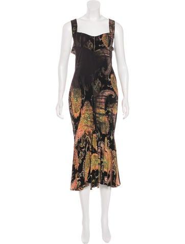 Roberto Cavalli Silk Midi Dress None